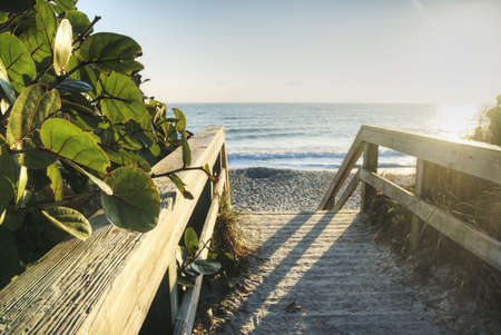 Sunrise in Satellite Beach, Florida Stock Photo