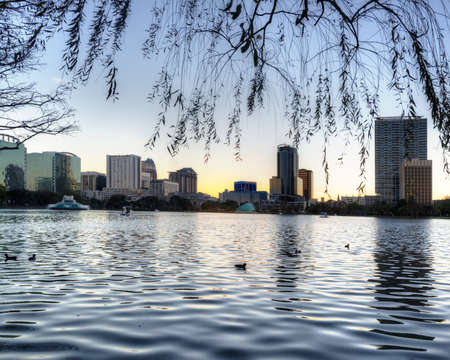 Orlando at Lake Eola Park Stock Photo - 19502604