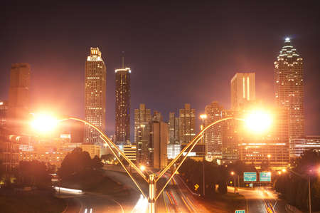 Atlanta at Night Stock Photo - 20365089