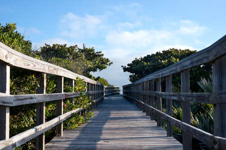Boardwalk to Beach in Florida photo