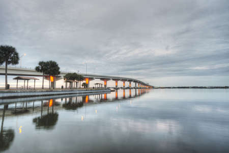 Maxwell Bruer Bridge in Titusville, Florida Stock Photo - 20365064