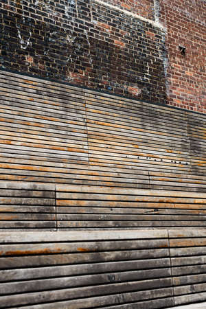 Wood and Brick Texture photo