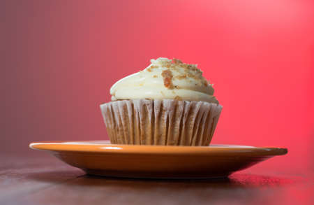 Carrot Cake Cupcake Stockfoto