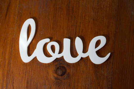 Love on Wood Stock Photo - 21195098