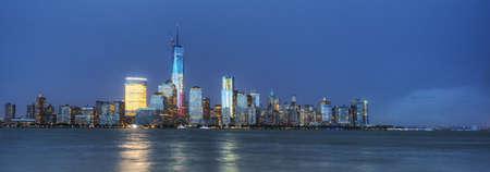 Panorama of NYC at Night Stock Photo - 21889461