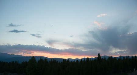 Sunset in Rockies Stock Photo - 21889502