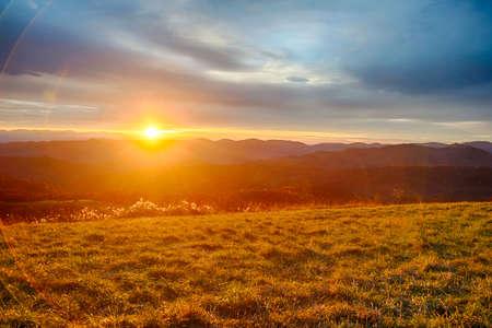 Sunrise Over Blue Ridge Mountains