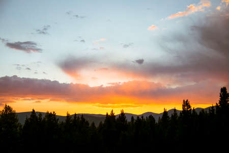 rocky mountains: Sunset in the Rocky Mountains