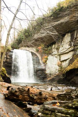 carolina: Waterfall in North Carolina Stock Photo