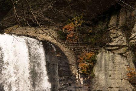 north carolina: Detail of Waterfall in North Carolina