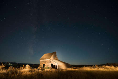 ranch house: Ranch house in South Dakota Stock Photo