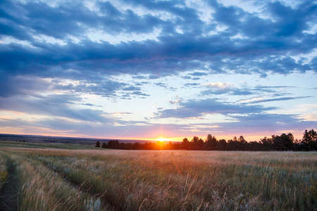wyoming: Wyoming Landscape at Sunrise