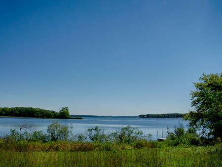 Lake Okobji, Iowa in the Summer. Stock Photo