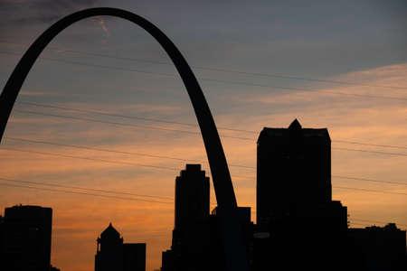 st louis: St. Louis Skyline at Sunset