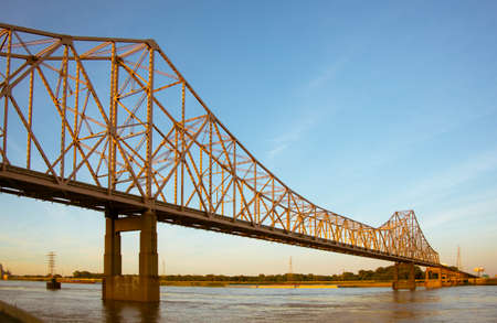 Eads Bridge in St. Louis Over the Mississippi River