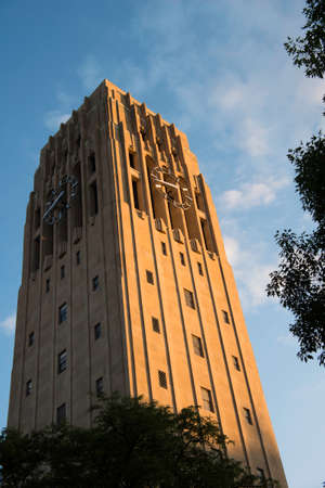 Clock Tower at University of Michigan Editorial