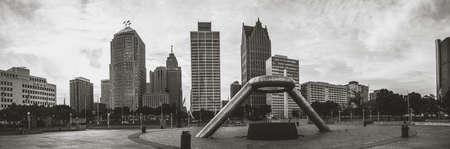 Detroit Skyline in the Summer