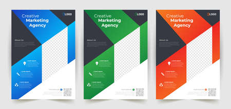 Business abstract vector template. Brochure design, cover modern layout, annual report, poster, flyer in A4 with colorful triangles, geometric shapes for tech, science, market with light background Illustration