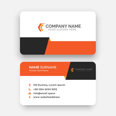 simple horizontal business card template design with vector