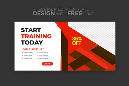 Sports Social Media Banner Template Collection with Unique Style