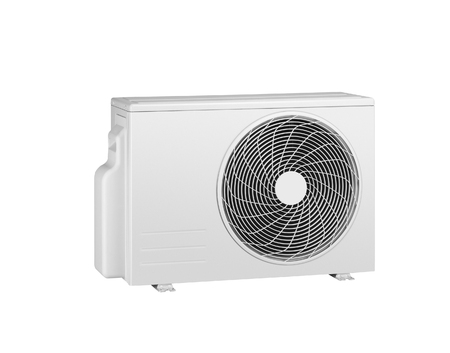 expel: Air conditioner isolated on white