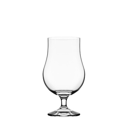 beerglass: Empty beerglass isolated on white Stock Photo