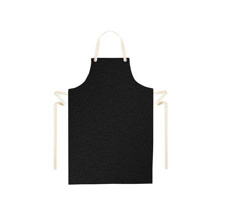 butcher: Black apron isolated on white