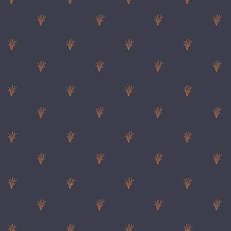 Vector orange petals seamless pattern dark background