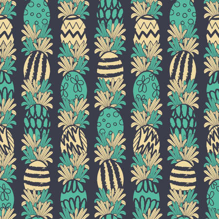 Vector yellow green easter eggs seamless pattern
