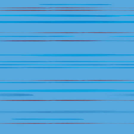 Vector red blue lines, stripes seamless pattern Stock Illustratie