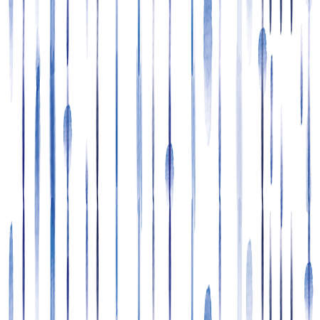 Vector painted blue lines stripes seamless pattern