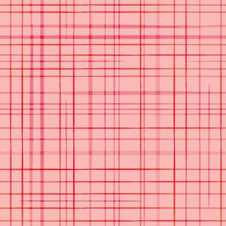 Vector pink grid, check modern seamless pattern Stock Illustratie