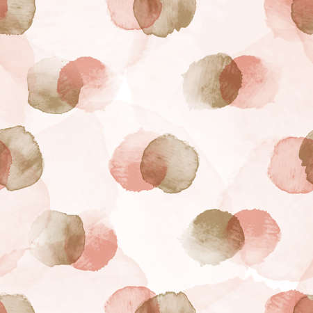 Vector dots stains pink rosy ecru seamless pattern Stock Illustratie