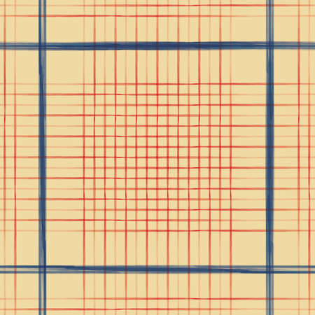 Vector red blue grid check yellow seamless pattern Stock fotó