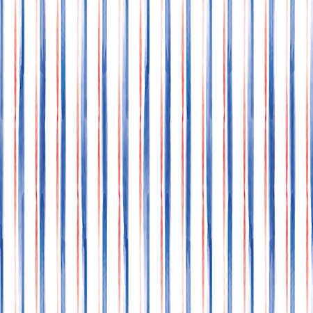 Vector red blue lines striped seamless pattern Stock fotó