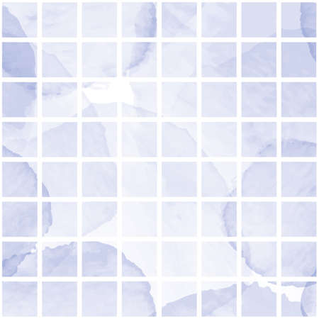 Vector blue dots white grid check seamless pattern