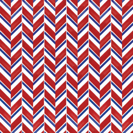 Vector blue red striped chevrons seamless pattern
