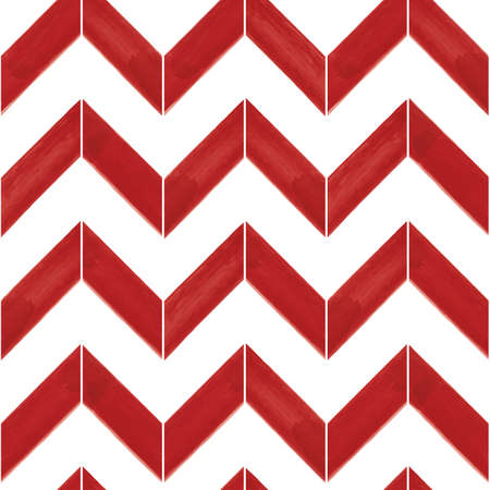 Vector red striped chevrons white seamless pattern Illusztráció