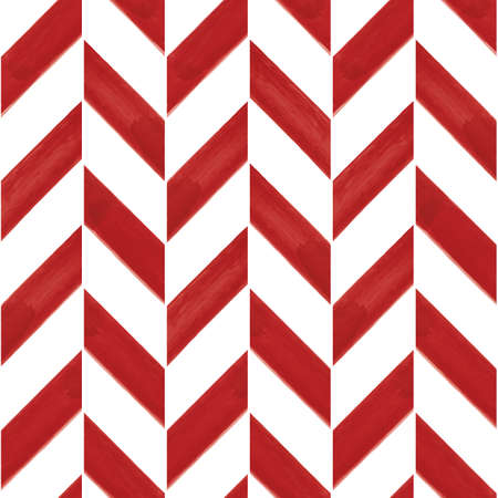 Vector painted red striped chevrons seamless pattern Illusztráció