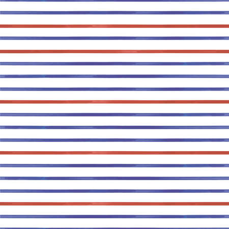 Vector red blue lines striped seamless pattern Illusztráció