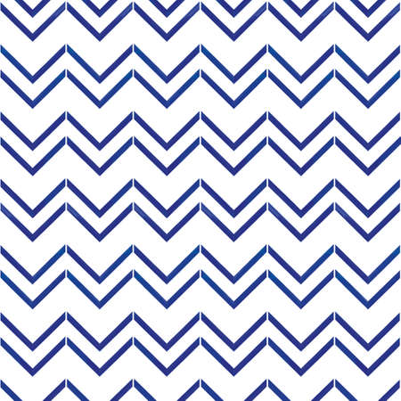 Vector blue chevrons stripes seamless pattern white Illusztráció
