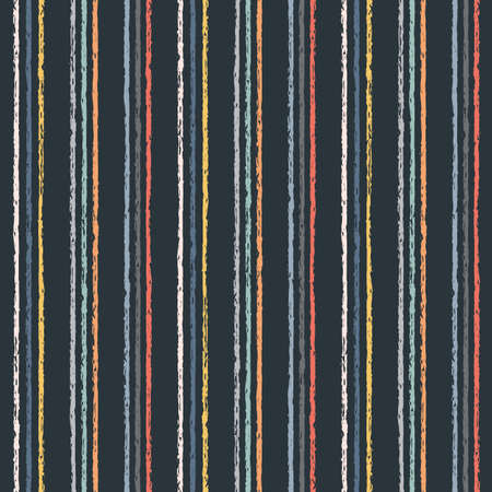 Vector colourful charcoal stripes seamless pattern background