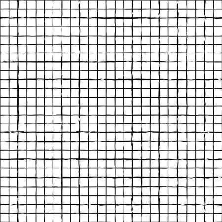 Vector white black grid check seamless pattern Illusztráció