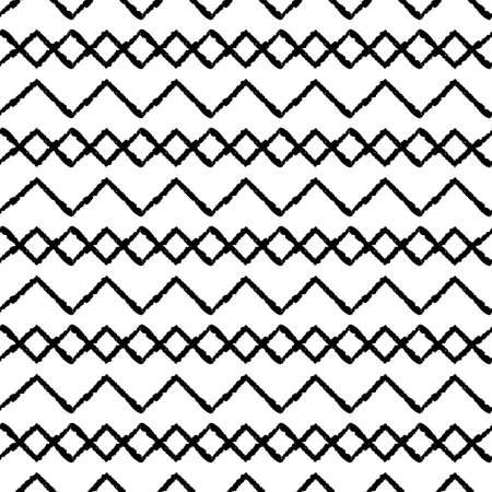 Vector black chevrons karo white seamless pattern