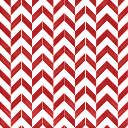 Vector red arrows chevrons white seamless pattern