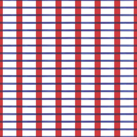 Vector red blue lines white grid seamless pattern Illusztráció