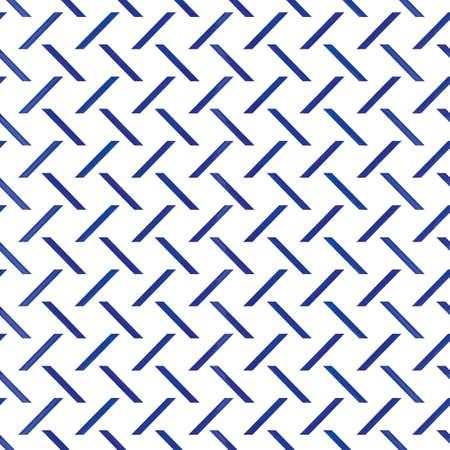 Vector blue diagonal stripes white seamless pattern Illusztráció