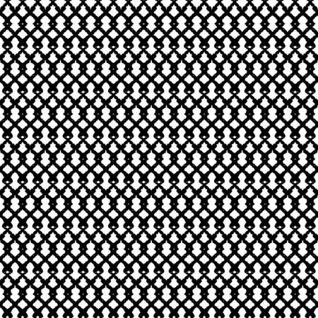 Vector black grid net loops white seamless pattern