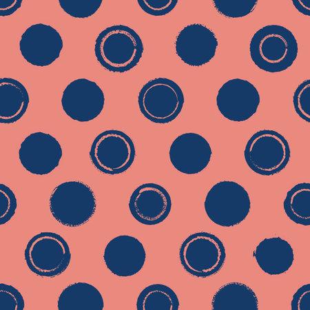 Vector pink blue circles abstract seamless pattern Illusztráció