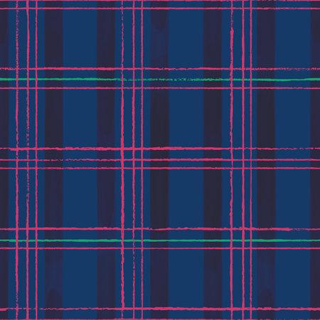 Vector pink blue green grid check seamless pattern Illusztráció